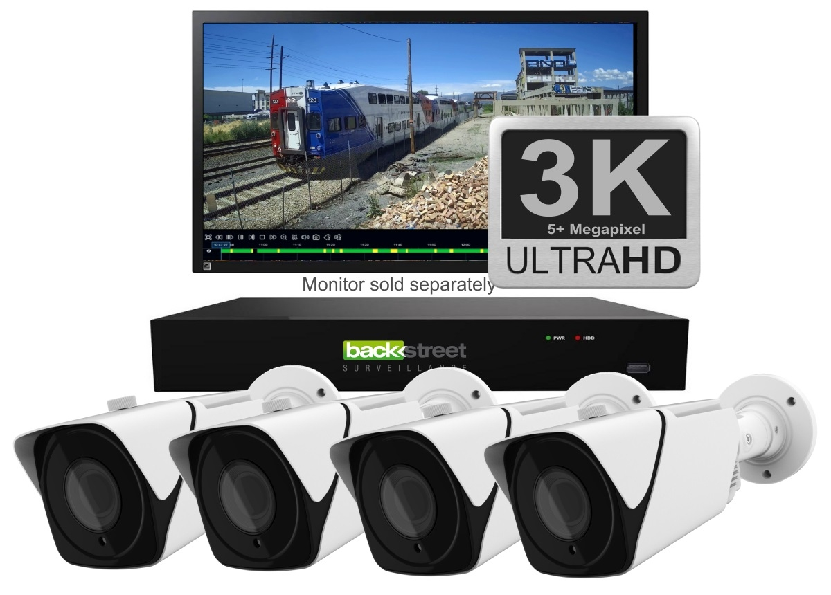 White 2 outdoor security camera system with zoom lens