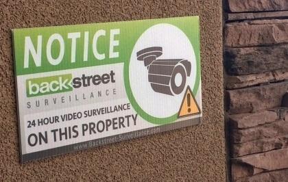 Outdoor Warning Sign