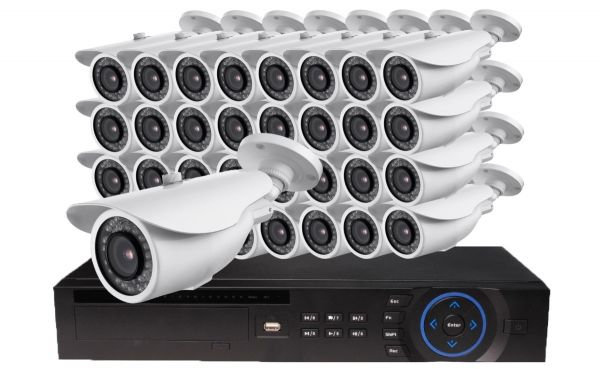 32 camera 100 foot night vision security camera system do-it-yourself