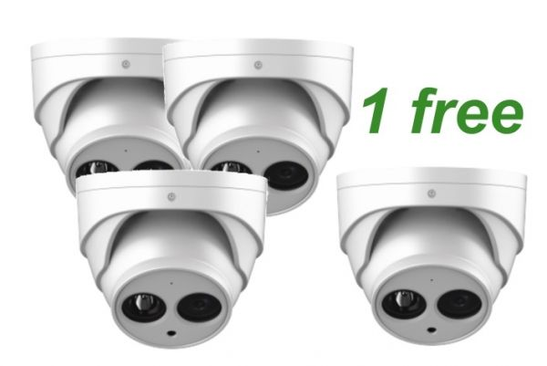 Vandal dome security camera package - Buy 3 and get 4 - 1 Free!