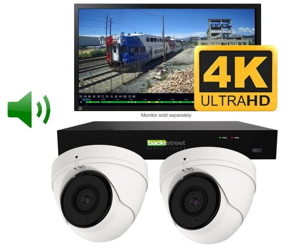 Two camera 4K security camera system