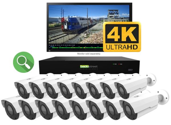 ProVue 4K Live 16 camera video security system for home or business