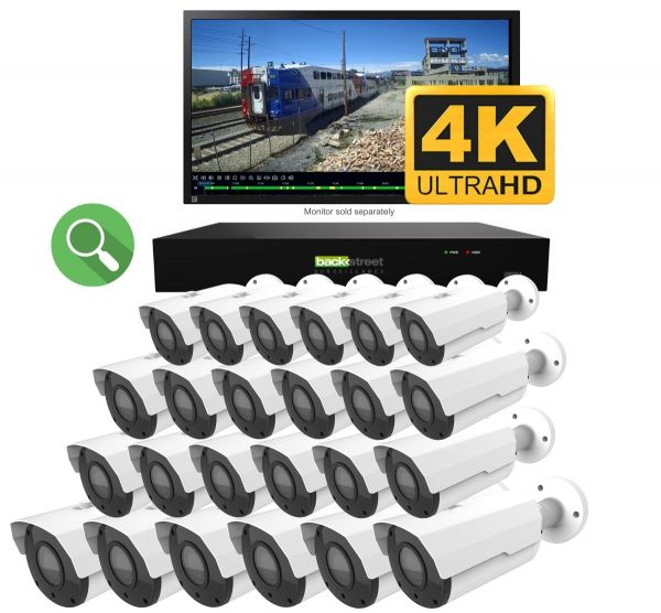 24 Camera business security system with 4K video and motorized zoom