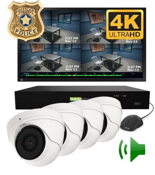4 Camera Interrogation room camera system
