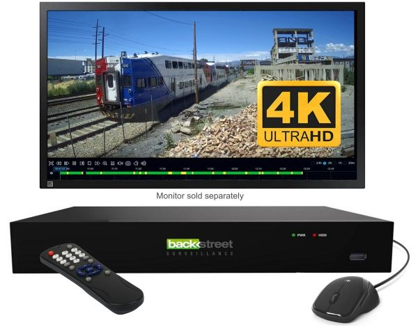 4K Security NVR supports 32 IP cameras