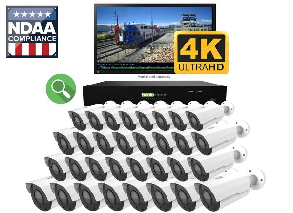 32 Camera professional business video surveillance and security system