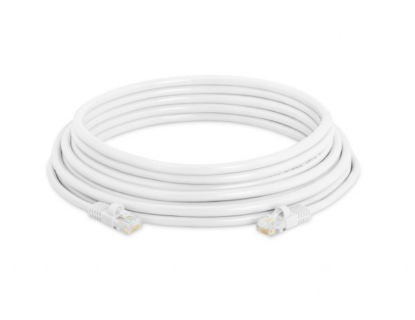 Outdoor white cat6 security camera cable