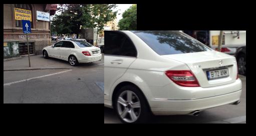 Car zoomed in